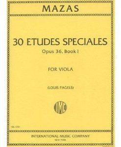 Mazas Jacques Fereol 30 Etudes Speciales Op. 36 Book 1 Viola solo - by Louis Pagels International